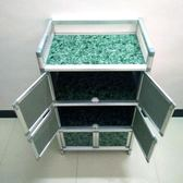 簡易餐邊櫃三層組裝不生銹鋁合金櫃櫥櫃廚房置物架放碗櫃酒櫃QM『美優小屋』