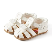 卡特兔童鞋寶寶女童涼鞋皮夏季學步機能鞋軟底男童包頭嬰兒鞋兒童 怦然心動
