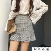 短裙 高腰修身顯瘦A字短裙