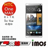 iMOS HTC One Max 上下段Dot View 精細孔洞 保護貼