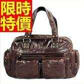 真皮行李袋-時尚可肩背百搭復古男手提包1色59c36【巴黎精品】