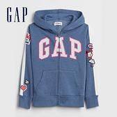 Gap女童 LOGO迪士尼系列連帽外套 552229-淺藍色