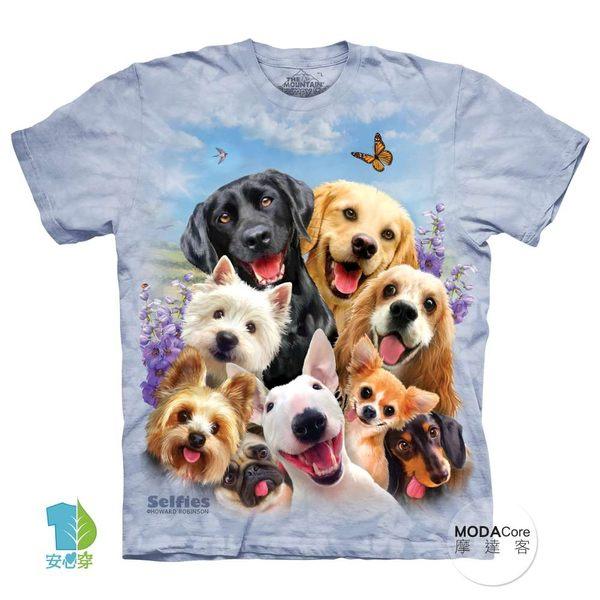 【摩達客】(預購)美國進口The Mountain 狗狗哦耶 純棉環保短袖T恤(YTM104174984005)