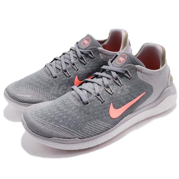 Nike 慢跑鞋 Wmns Free RN 2018 灰 粉紅 赤足 女鞋 運動鞋 【PUMP306】 942837-005
