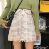 新款小香風氣質格子半身裙高腰顯瘦A字裙女學生百搭短裙 黛尼時尚精品