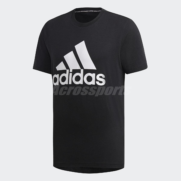 adidas 短袖T恤 Must Have Badge of Sport Tee 黑 白 男款 純棉 【PUMP306】 DT9933