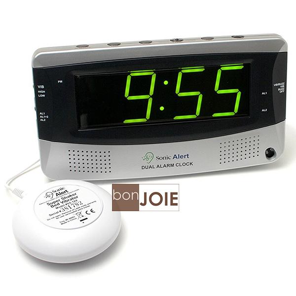 ::bonJOIE:: 美國進口 Sonic Alert SBD375SS 震動鬧鐘 (含振動器) Bomb Boom 音波炸彈 鬧鈴 靜音 提醒器