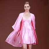 吊帶睡袍兩件套裝女士春夏季雪紡透氣睡衣家居服《小師妹》yf758