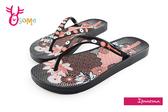 IPANEMA 女拖鞋 浪漫花卉夾腳拖鞋 巴西拖鞋H5827#黑粉◆OSOME奧森童鞋