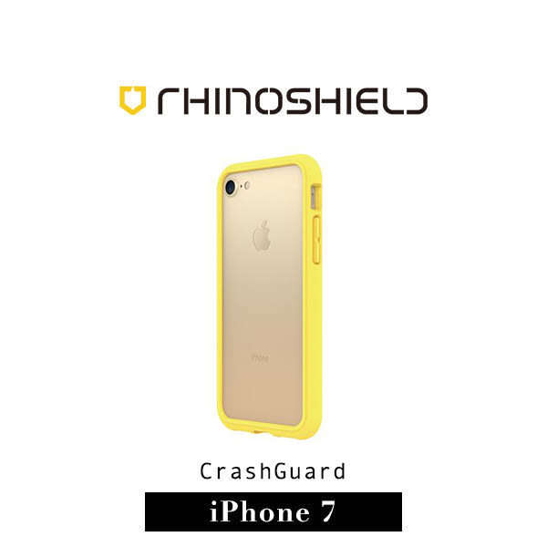 【G2 STORE】二代 Rhinoshield Crashguard 犀牛盾 耐衝擊 iPhone 7 防摔 保護 邊框 殼 - 黃(附贈背面保護貼)