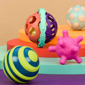 【奇買親子購物網】美國B.Toys 星奇四觸覺感統球