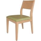 餐椅 TV-464-5 喬伊原木餐椅(綠亞麻紋皮)【大眾家居舘】