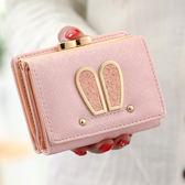 韓版時尚短款錢夾百搭簡約休閒零錢包學生皮夾女包