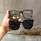 墨鏡韓潮眼鏡女明星同款方形墨鏡ins平面鏡太陽鏡男女圓臉時尚太陽鏡 衣間迷你屋