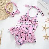 兒童泳衣女孩中小分體裙式游泳衣嬰幼兒可愛公主韓國寶寶泳裝