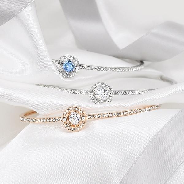 SWAROVSKI 施華洛世奇 SPARKLING璀璨浮動圓形水晶手環手鍊(2色任選)