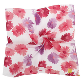 Sybilla 瑪格麗特花卉圖案純綿帕領巾(紅色)989164-21
