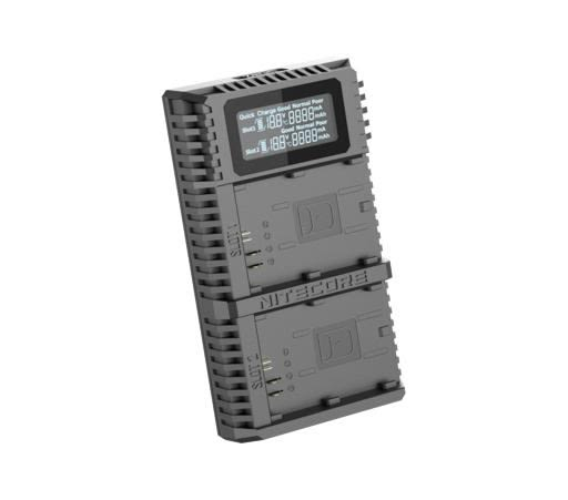 【聖影數位】NITECORE UCN2 Pro 雙槽 支持QC 2.0 USB快充 佳能LP-E6電池 USB行動電源充電器
