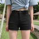 短褲 黑色牛仔短褲女夏天2020新款高腰彈力外穿顯瘦熱褲子【免運】