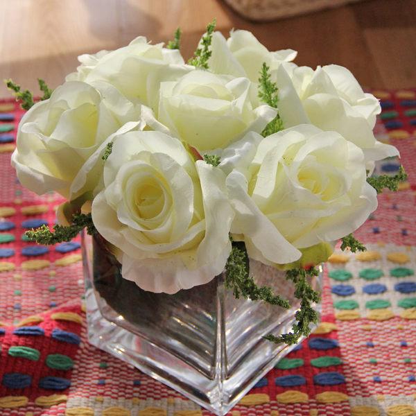 高檔模擬花成品 客廳餐桌擺放絹花套裝  -bri0100