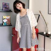 夏裝新款韓版百搭刺繡雪紡開衫外搭短防曬衣女外套學生潮  卡布奇諾