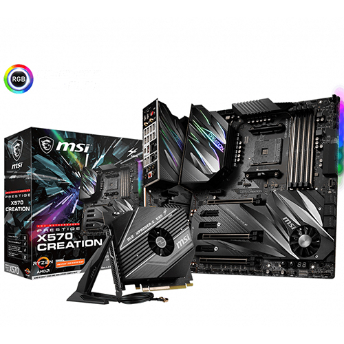 MSI 微星 PRESTIGE X570 CREATION 支援PCI-E 4.0 E-ATX AM4腳位 主機板