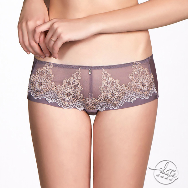 LADY 夢中的婚禮系列 低腰平口褲(晚霞紫)
