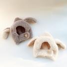 秋冬寶寶帽子加厚護耳嬰幼兒百搭兔耳朵毛絨帽子男女童可愛保暖帽