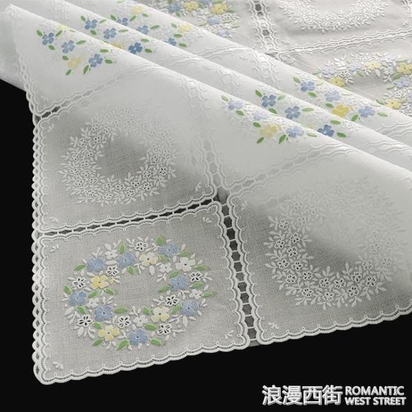 PVC桌布防水防燙防油免洗塑料餐桌墊家用客廳茶幾蕾絲台布長方形 浪漫西街