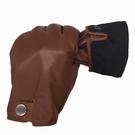防風手套 真皮手套男士秋冬季絲光里騎行防風摩托車開車單皮防水薄
