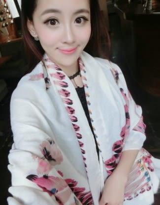 [協貿國際]  女士棉麻春夏季海邊防曬超大披肩圍巾 (1入)