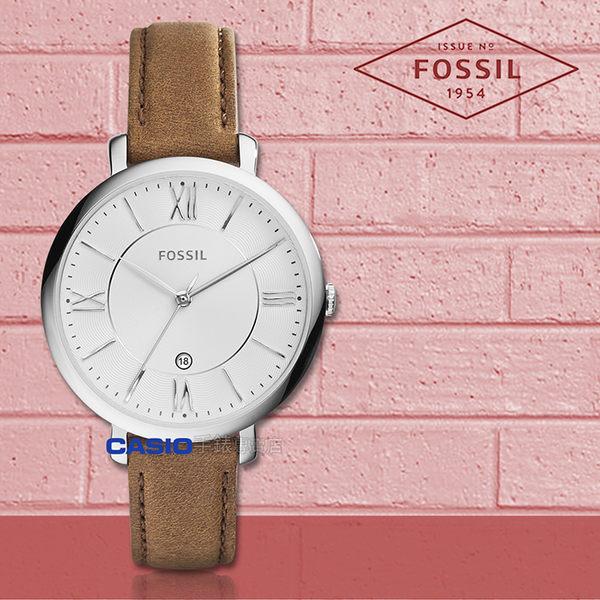 FOSSIL 手錶 專賣店 ES3708 女錶 石英錶 真皮錶帶  防水 全新品 保固一年