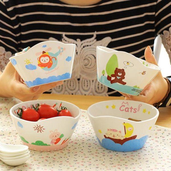 全館83折 精東家品可愛卡通陶瓷碗日式創意寶寶小碗家用餐具套裝兒童吃飯碗