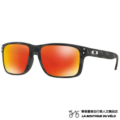 OAKLEY HOLBROOK™ BLACK CAMO COLLECTION (ASIA FIT) 帥氣黑迷彩 亞洲版 紅寶石PRIZM 時尚休閒太陽眼鏡
