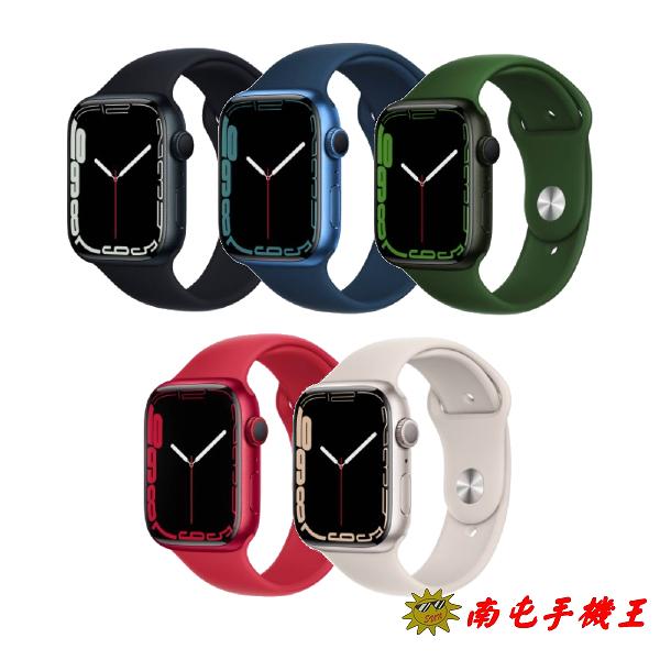 〝南屯手機王〞預購 APPLE Watch S7 GPS 45mm 鋁金屬錶殼+運動錶帶【宅配免運費】