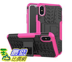 [106美國直購] 手機保護殼 iPhone X Case, High Impact Protection Kickstand Shockproof Clip Holster