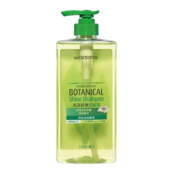 WS 亮澤植物洗髮露綠茶-油性髮質 725毫升