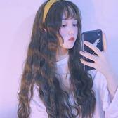 韓國空氣劉海玉米燙泡面假發女長捲發自然蓬鬆潮流U型半頭套     韓小姐の衣櫥