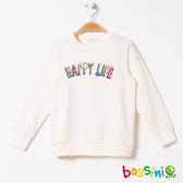 【歲末出清2件999】圖案圓領厚棉T恤01乳白-bossini女童