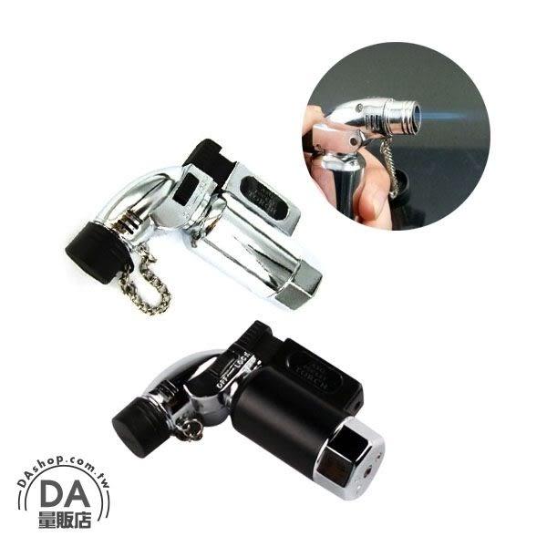 《DA量販店》防風 瓦斯 打火機 噴槍 噴射火焰 金屬 直桶造型 可充瓦斯 重複使用(37-502)