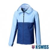K-SWISS Contrast Track Jacket 防曬抗UV風衣外套-男-藍