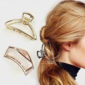 復古簡約幾何金屬髮夾 髮飾 髮夾 抓夾