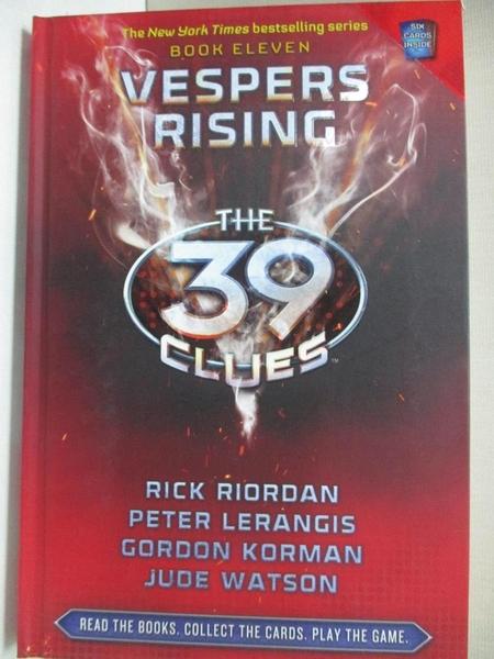 【書寶二手書T9/原文小說_GIY】Vespers Rising_Riordan, Rick/ Lerangis, Peter/ Korman, Gordon/ Watson, Jude