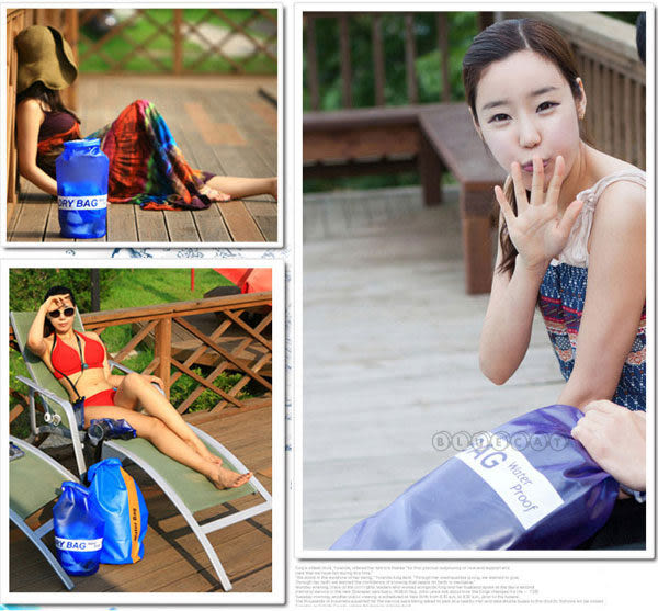 【BlueCat】DRY BAG游泳沙灘必備圓筒捲扣式飄流防水袋 收納包