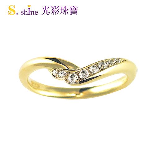 【光彩珠寶】婚戒 日本18K金結婚戒指 女戒 皇室戀曲V