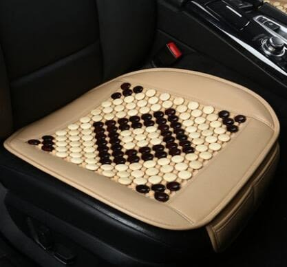 汽車坐墊四季通用無靠背單片夏季木珠涼墊車墊車內用品