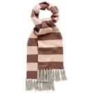 圍巾 I Love Gorgeous 喀什米爾羊絨條紋流蘇圍巾-咖啡 AW14KNACC09SPK