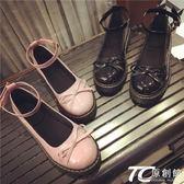 娃娃鞋/新款日系娃娃鞋原宿風平底圓頭小皮鞋蝴蝶結女鞋
