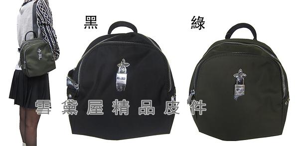 ~雪黛屋~COUNT 後背包超小型容量進口防水尼龍布+皮革材質二層主袋休閒隨身品BCD50002401160