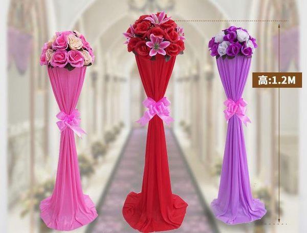 路引婚慶新款2018花拱門羅馬柱t臺裝飾道具中式婚禮布置迎賓花柱 極客玩家